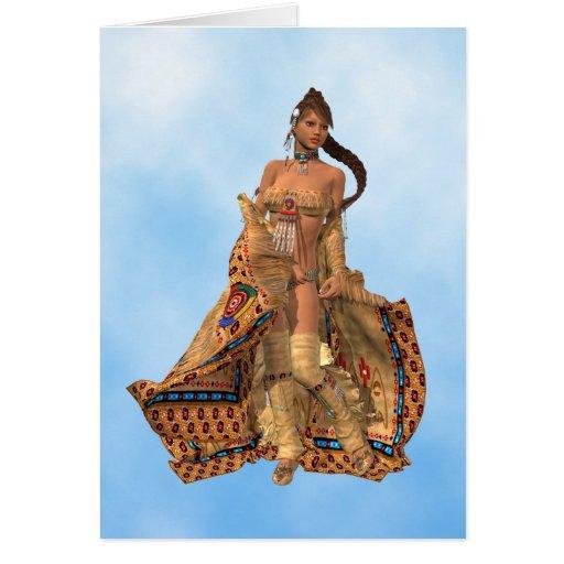 Beautiful Native American Indian Woman Card