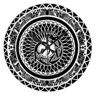 beautiful native american mandala design clock