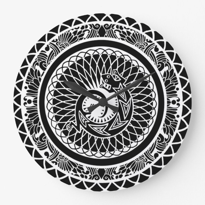 Beautiful Native American Mandala Design Clock Zazzle Com
