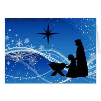 Beautiful Nativity Scene Customized Christmas Card