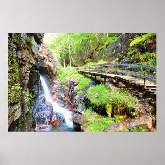 Beautiful Natural Waterfall Scenery NH Poster
