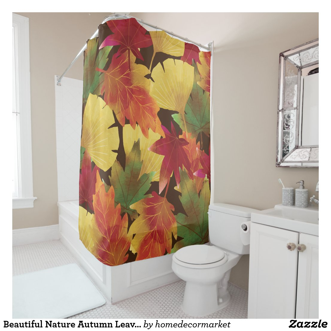 Beautiful Nature Autumn Leaves shower Curtain