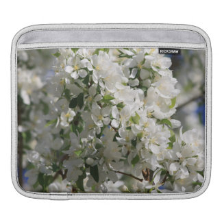 Beautiful Nature Photo Of White Apple Blossom Sleeves For iPads