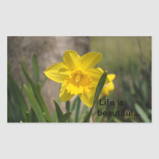 Beautiful nature pictures to decorate your item rectangular sticker