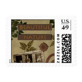"""Beautiful Nature"" Scrapbook Postage Stamp"