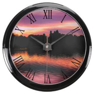 Beautiful Nature Sunset Landscape Photo Aquavista Clock