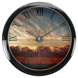 Beautiful Nature Sunset Landscape Photo Aquavista Clocks