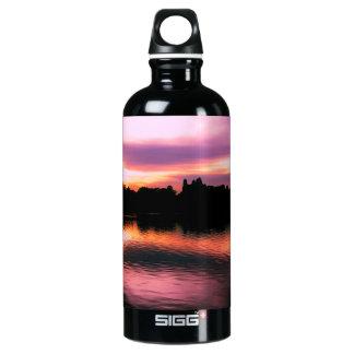 Beautiful Nature Sunset Landscape Photo Water Bottle