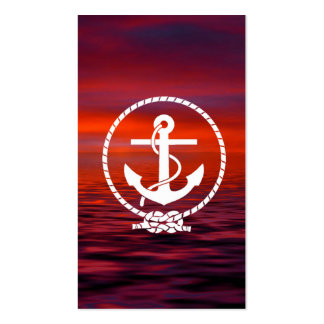 Beautiful nautical Anchor Sunrise colourful Cloud Business Cards