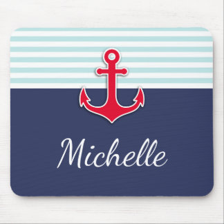 Beautiful Nautical Design Custom Text Mouse Pad