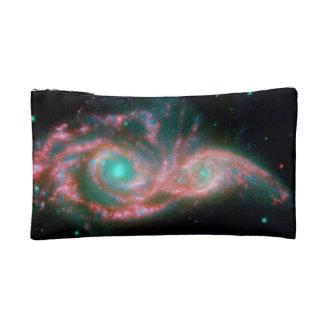 Beautiful nebula space photography makeup bags