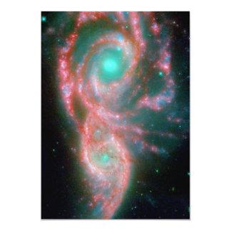Beautiful nebula space photography card