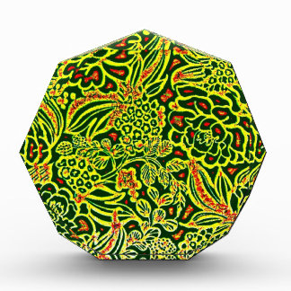 Beautiful Neon Bright Floral Design Pattern Acrylic Award