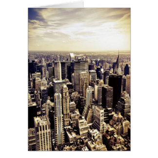 Beautiful New York City Skyscrapers Skyline Greeting Cards
