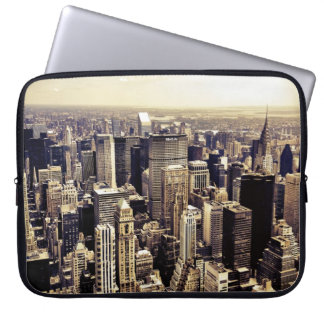 Beautiful New York City Skyscrapers Skyline Computer Sleeve