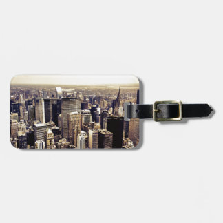 Beautiful New York City Skyscrapers Skyline Tags For Luggage