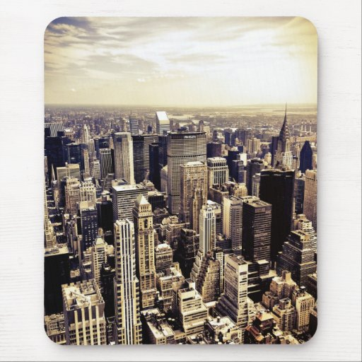 Beautiful New York City Skyscrapers Skyline Mouse Pad