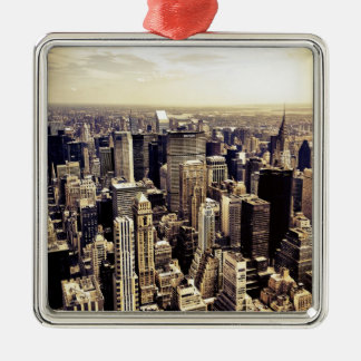 Beautiful New York City Skyscrapers Skyline Christmas Tree Ornaments