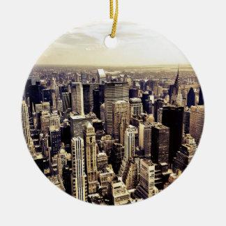 Beautiful New York City Skyscrapers Skyline Ornament