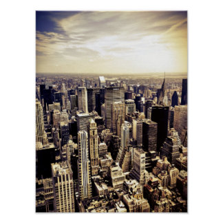 Beautiful New York City Skyscrapers Skyline Poster