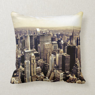 Beautiful New York City Skyscrapers Skyline Throw Pillow