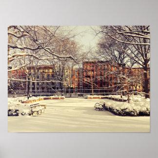 Beautiful New York Winter Print