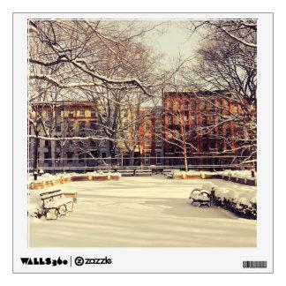 Beautiful New York Winter Wall Decal