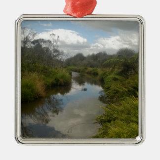 Beautiful New Zealand Landscape. Quiet, reflective Metal Ornament