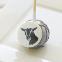 Beautiful Nigerian Dwarf Goat Doe portrait Cake Pops