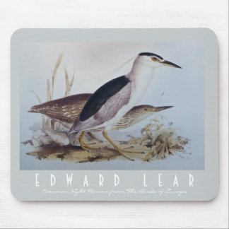 Beautiful Night Herons - Vintage Bird Art by Lear Mouse Pad