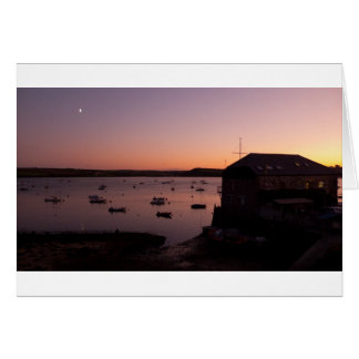 Beautiful night shot in Rock in Cornwall Card