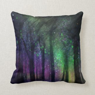 Beautiful Northern Lights Aurora Throw Pillow