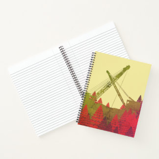 Beautiful Northwest Crane Operating Engineer Art Notebook