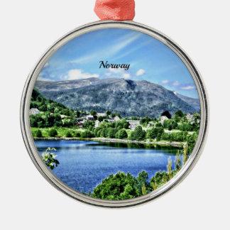 Beautiful Norway Metal Ornament