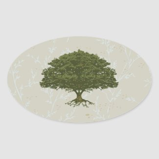 Beautiful Oak Tree Sticker