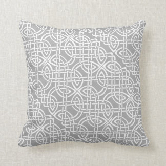 Beautiful Oatmeal Color Celtic Knot Throw Pillow