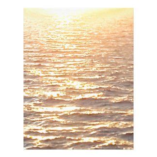 Beautiful Ocean Golden Hour Sunrise Letterhead