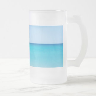 Beautiful Ocean 16 Oz Frosted Glass Beer Mug