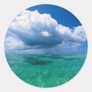 Beautiful Ocean Naturescape Classic Round Sticker