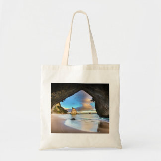Beautiful Ocean Rock Arch Formation on Beach Tote Bag