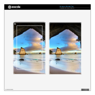 Beautiful Ocean Rock Arch Formation on Beach Decals For Kindle Fire