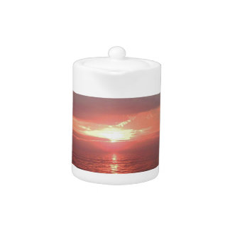 Beautiful Ocean Sunrise Inspirational Quote Teapot