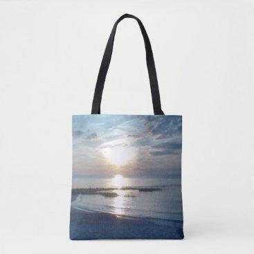 Beach Themed Beautiful Ocean Sunset Photo Tote Beach Bag