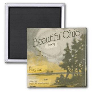 Beautiful Ohio 2 Inch Square Magnet