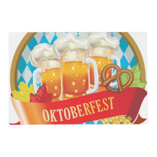 Beautiful Oktoberfest Label With Beer Placemat
