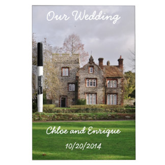 Beautiful Old Building Personalized Wedding Dry Erase Board
