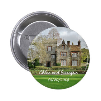 Beautiful Old Building Personalized Wedding Pinback Button