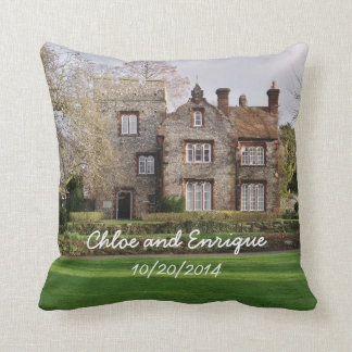 Beautiful Old Building Personalized Wedding Throw Pillow