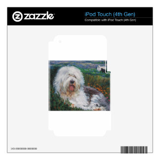 Beautiful Old English Sheepdog Dog Art Painting Decals For iPod Touch 4G