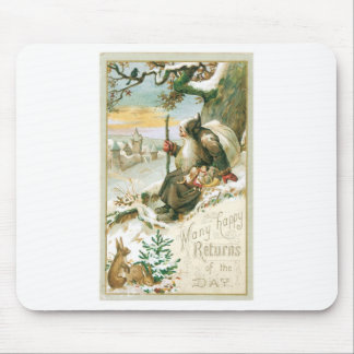 Beautiful old painting of Santa Claus Mouse Pad